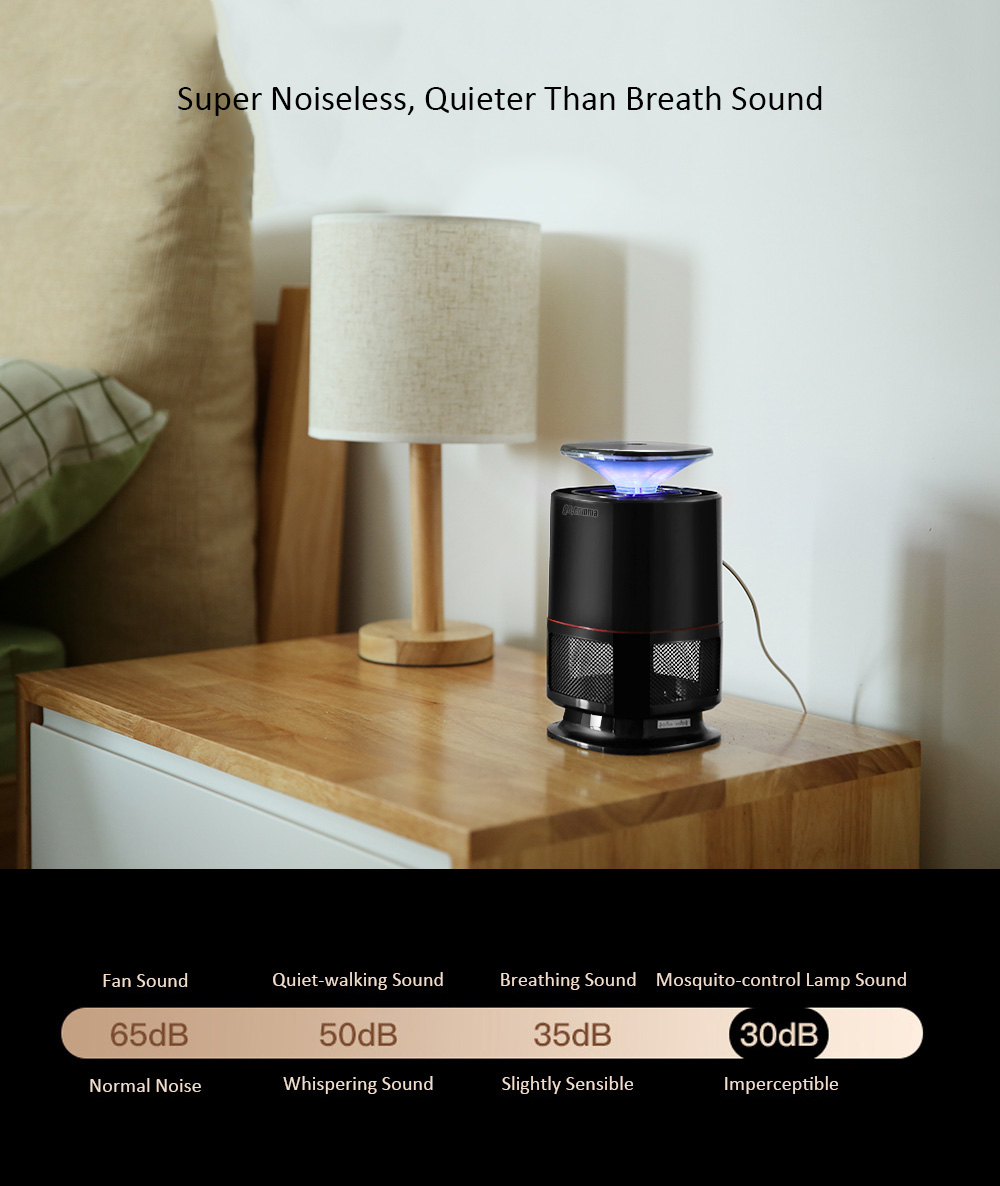 Gocomma Led Electric Mosquito Killer Lamp 220v 2141 Free How To Build 220vac Operated Remote Tester Noiseless Repellent Black