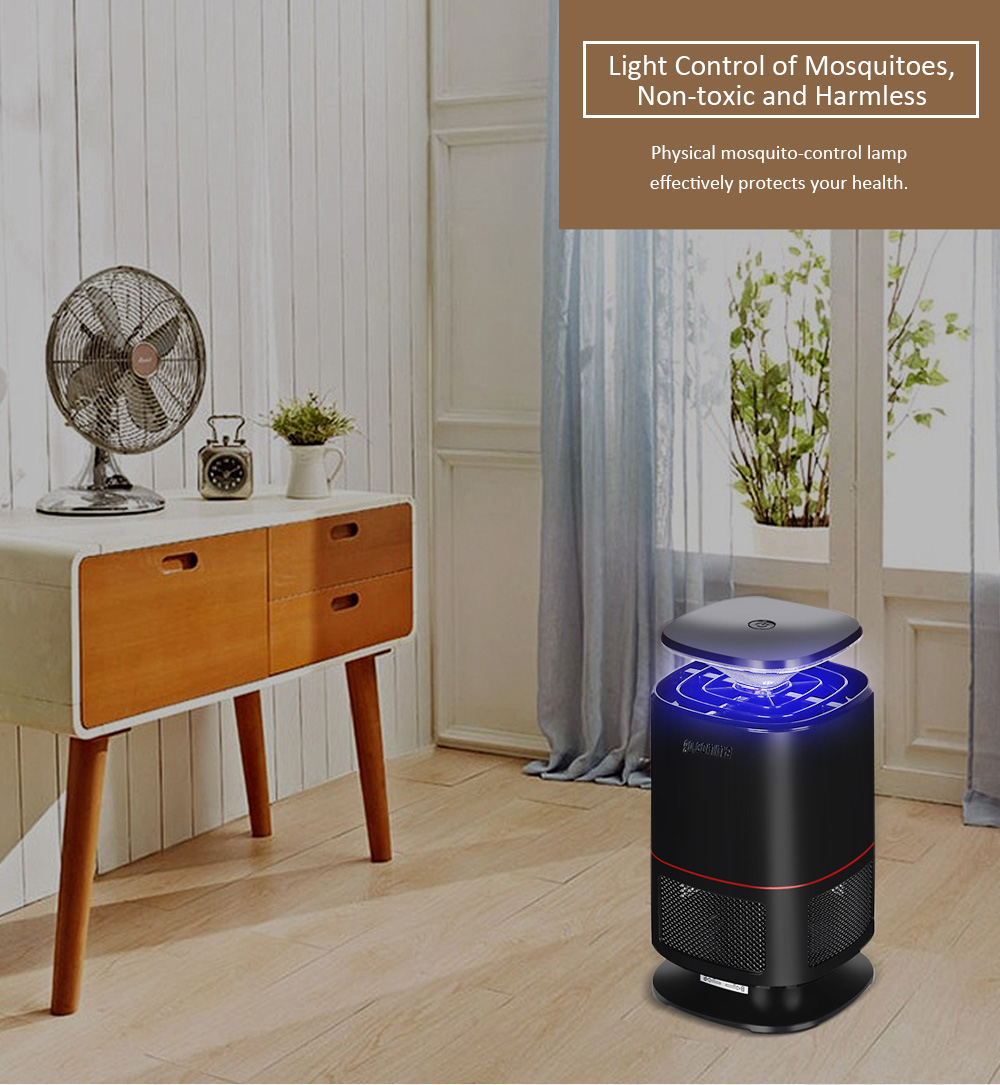 gocomma Noiseless LED Electric Mosquito Repellent Lamp 220V- Black
