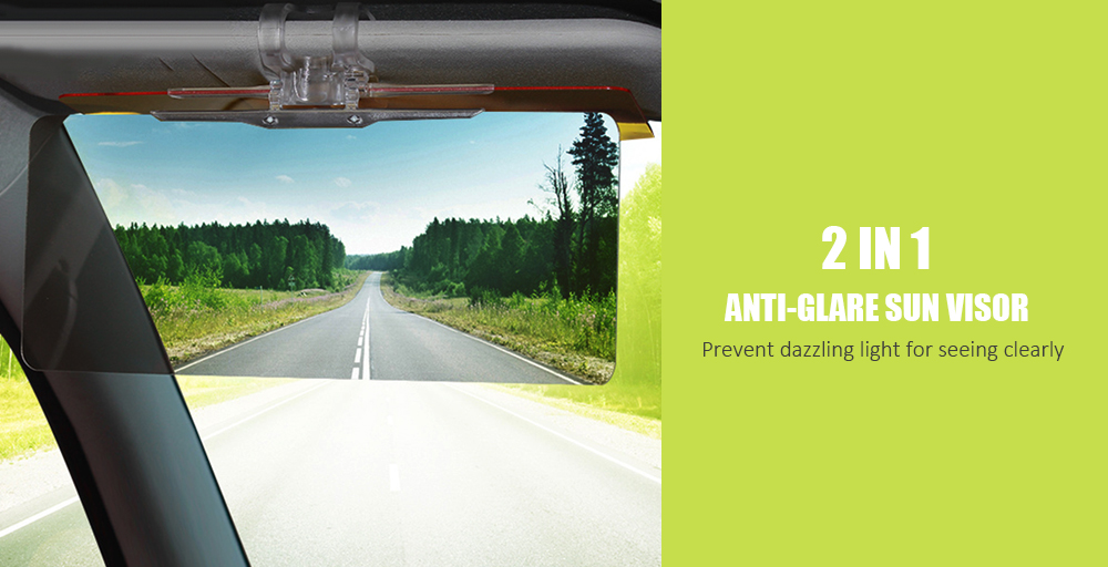 2 in 1 Car Sun Visor Glasses Goggles Extender for Day and Night Driving- Bee 8462bf56bf1