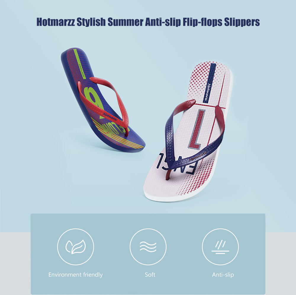 b2cc764f258 Hotmarzz World Cup Stylish Summer Anti-slip Flip-flops Slippers for Men  from Xiaomi