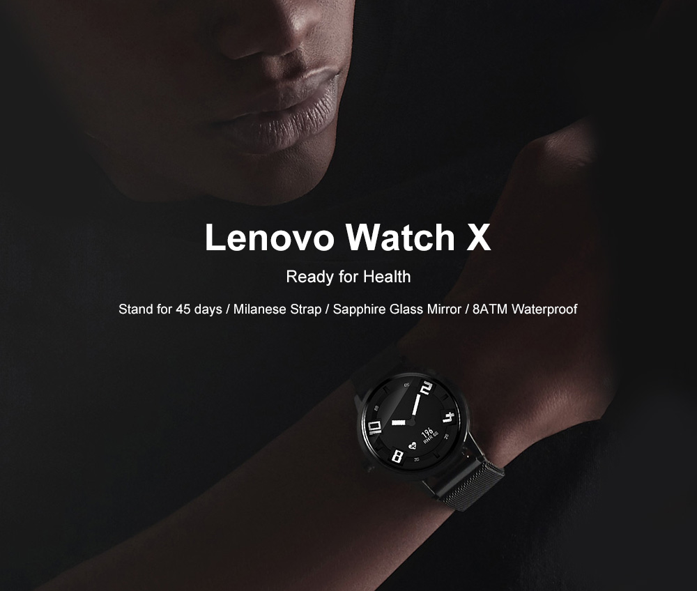 0a9826a84d2 Lenovo Watch X Bluetooth Waterproof Smartwatch Support iOS and Android-  Black