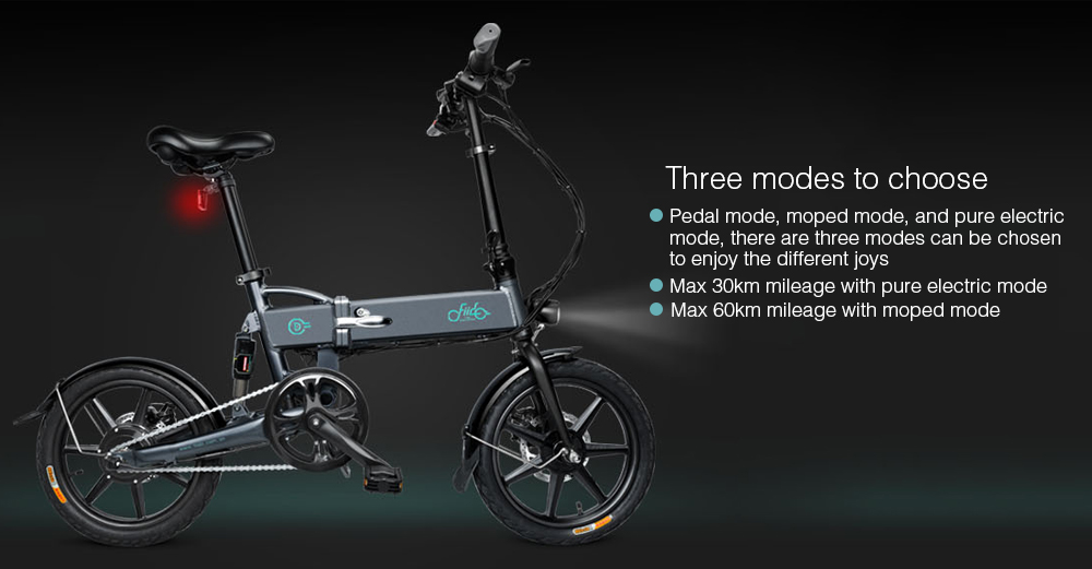 FIIDO D2 Smart Folding Bike Electric Moped Bicycle 7.8Ah Battery / with Double Disc Brakes - Crystal Cream