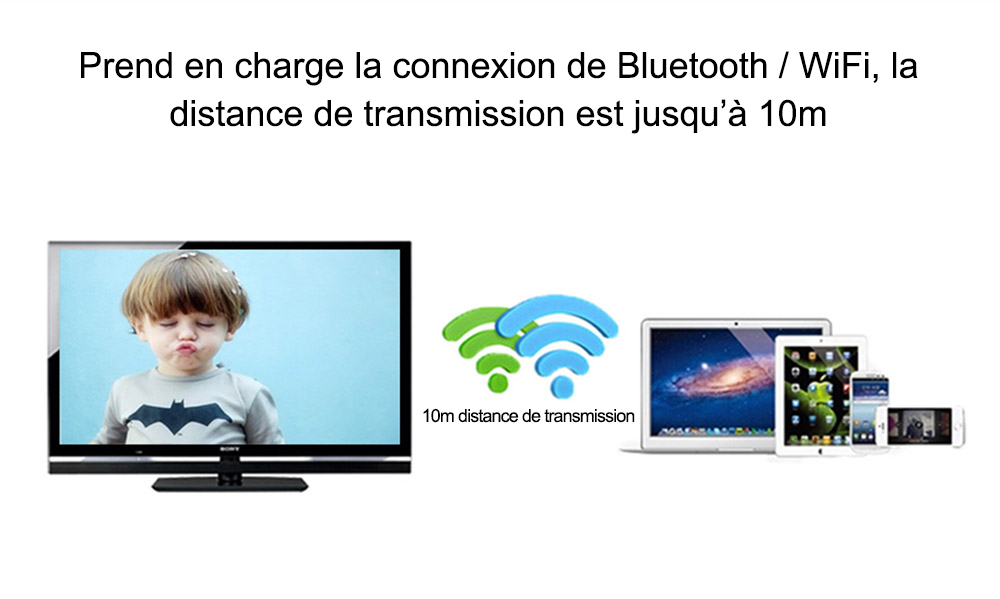 Android 4, 4 Prend en Charge Bluetooth DLNA Miracast Airplay Ezcast Multi-Langues