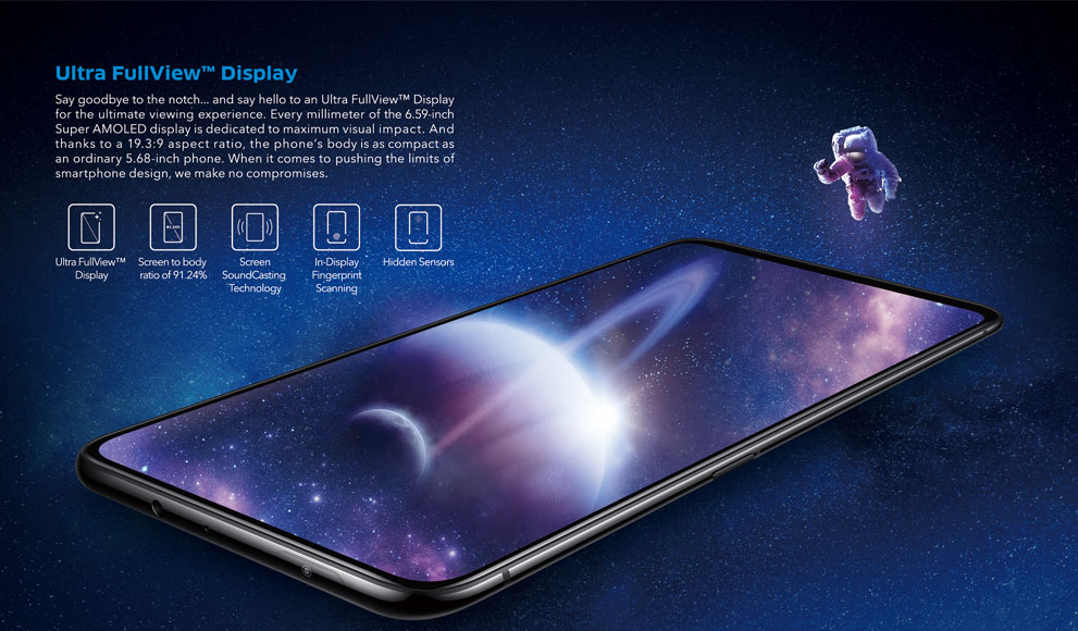 Vivo NEX 4G Phablet 6.59 inch Android 8.1 Qualcomm Snapdragon 845 Octa Core 2.8GHz 8GB RAM 128GB ROM 12.0MP + 5.0MP Rear Camera Screen Fingerprint Sensor 4000mAh Built-in- Black