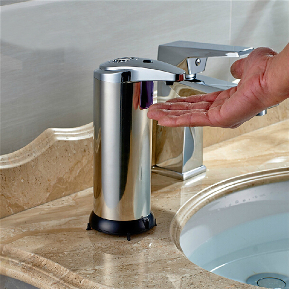 Stainless Infrared Automatic Sensor Hand Sanitizer Soap Dispenser- Silver