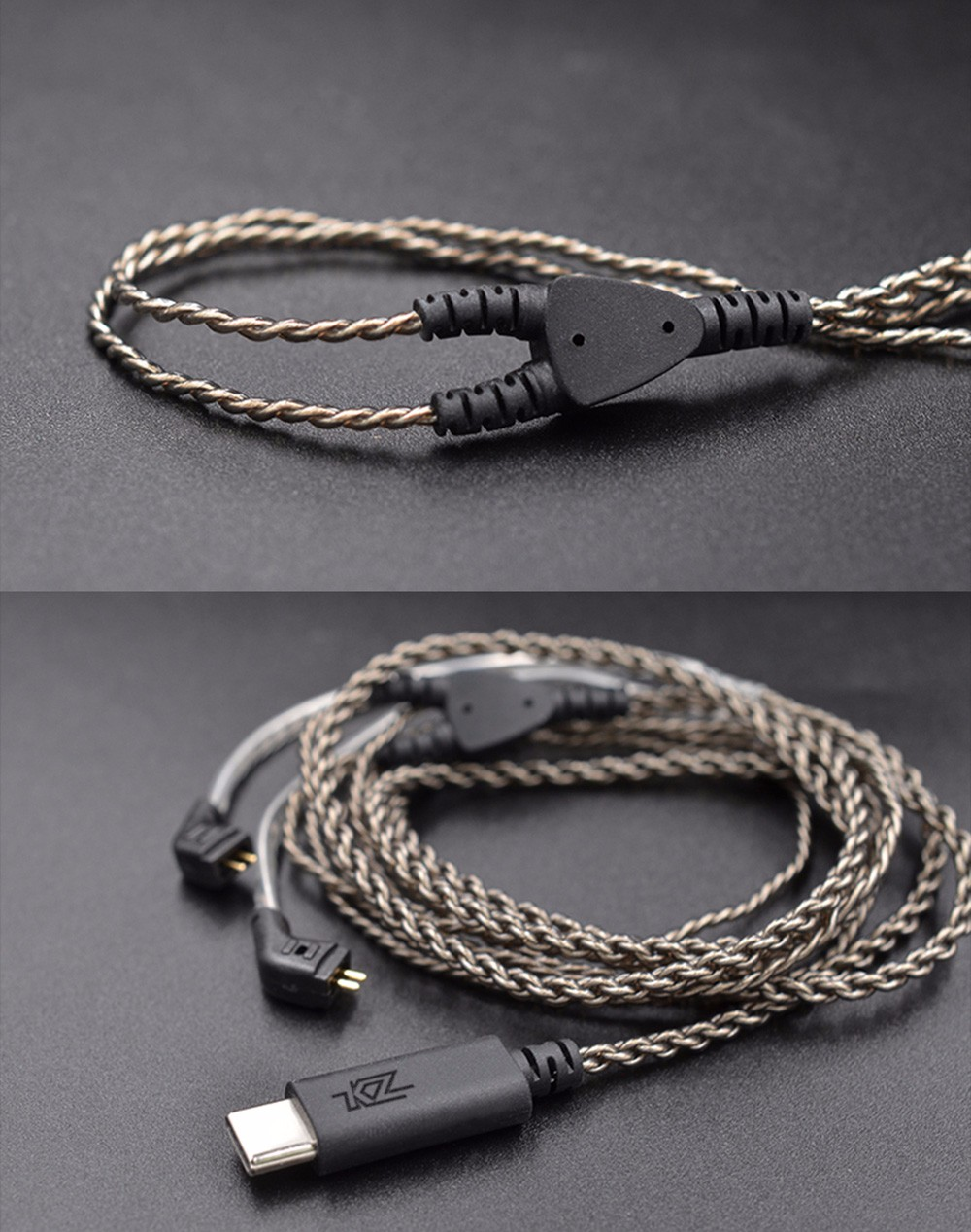 Original Kz Type C 075mm Digital Decoding Ofc Upgrade Cable 901 Kabel Bluetooth Module Knowledge Zenith Zs3 Zs5 Zs6 Zst Silver Plated For