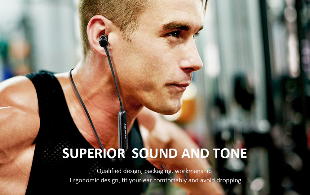 Awei X660BL Quad-core Dual Dynamic Double Circle In-Ear Earbuds Necked Magnetic Bluetooth Earphone- Gray