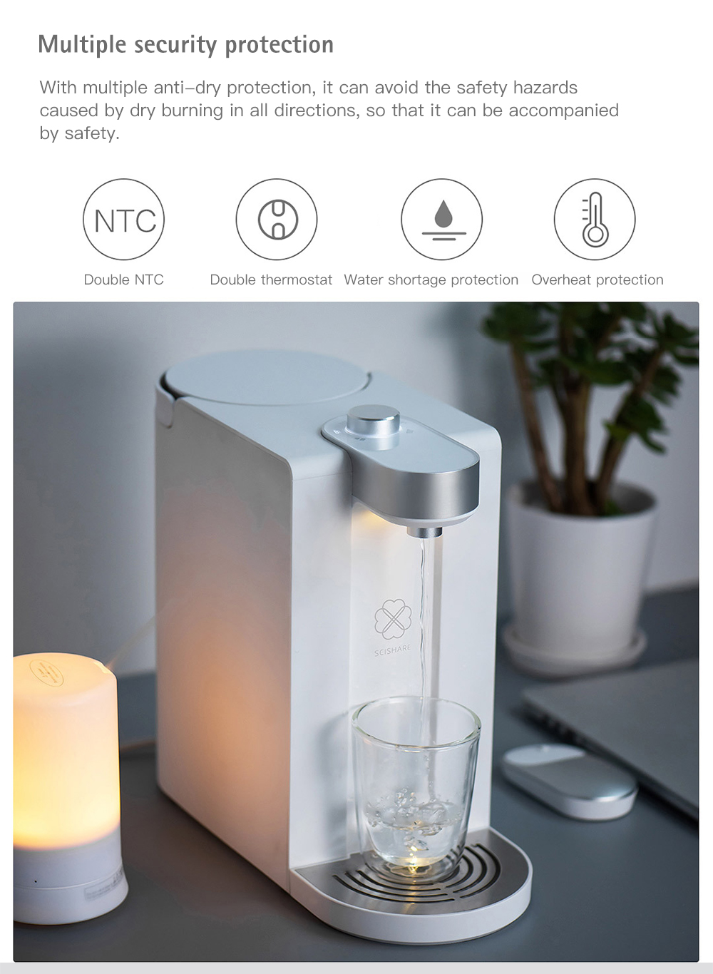S2101 Minimalist Design Instant Heating Water Dispenser from Xiaomi Youpin- White