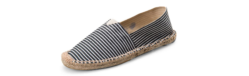 Scarpe casual da uomo alla moda con cuciture Slip-on su tela- Night 45