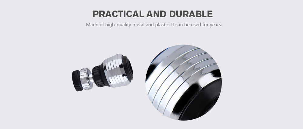 Multifunctional 360 Degree Rotate Faucet Internal Thread Nozzle Bubbles Filter Adapter Water Saving Connector聽- Silver
