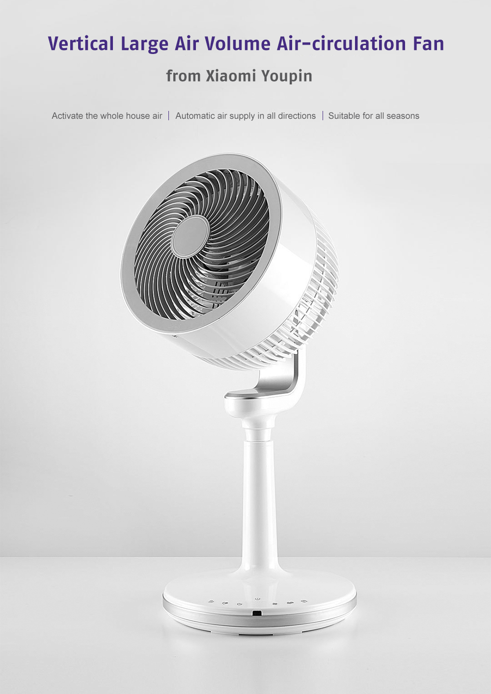 Vertical Large Air Volume Air-circulation Fan Electronic Air-conditioning Partner from Xiaomi Youpin- White