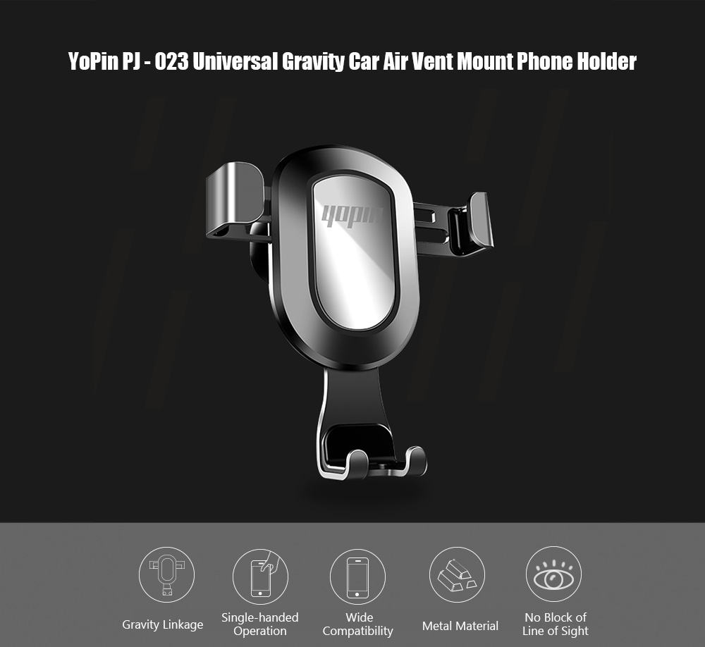 YoPin PJ - 023 Universal Gravity Linkage Car Air Vent Mount Phone Holder Stand- Blonde