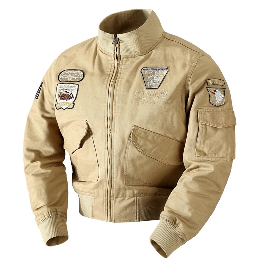 Men's Fashion Trend Casual Jacket- Army Green M