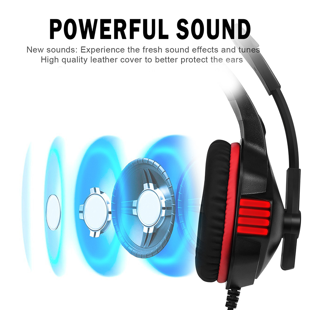 Hunterspider V 3 35mm Headsets Bass Gaming Headphones 2084 Basic Mobile To Pc Headset Cable With Mic Led Light For