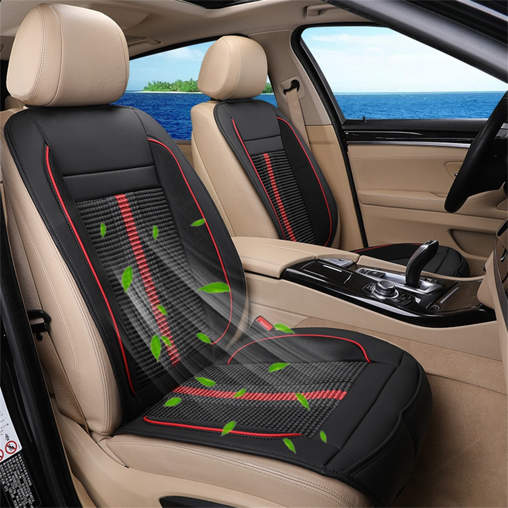 Summer Refrigeration Blowing Cooling Car Seat Cushion Pat Cool Protect Cover Black