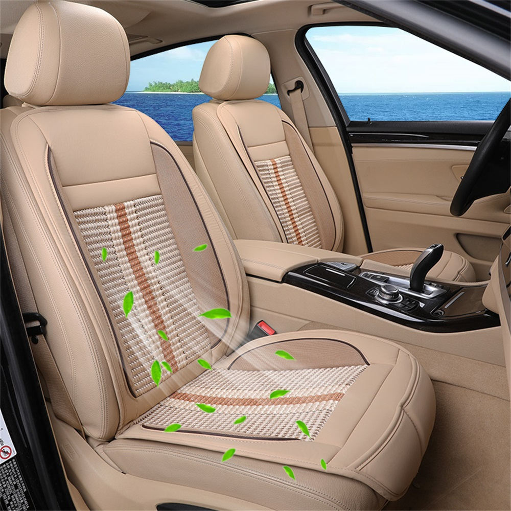 Summer Refrigeration Blowing Cooling Car Seat Cushion Pat Cool Protect Cover Beige