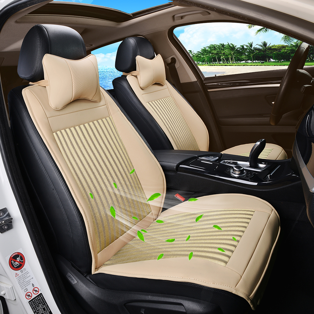 Seat Cover Refrigeration Blowing Cooling Massage Smart Car Cushion Black