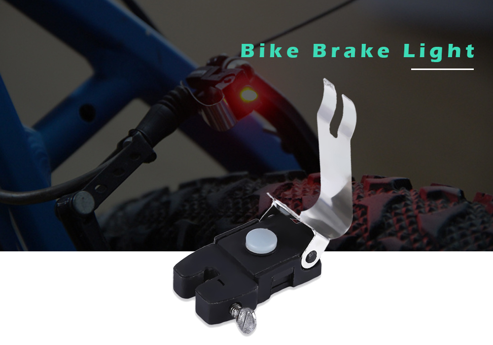 Bike Tail Brake Light Battery Powered Waterproof Bicycle Lamp - Black