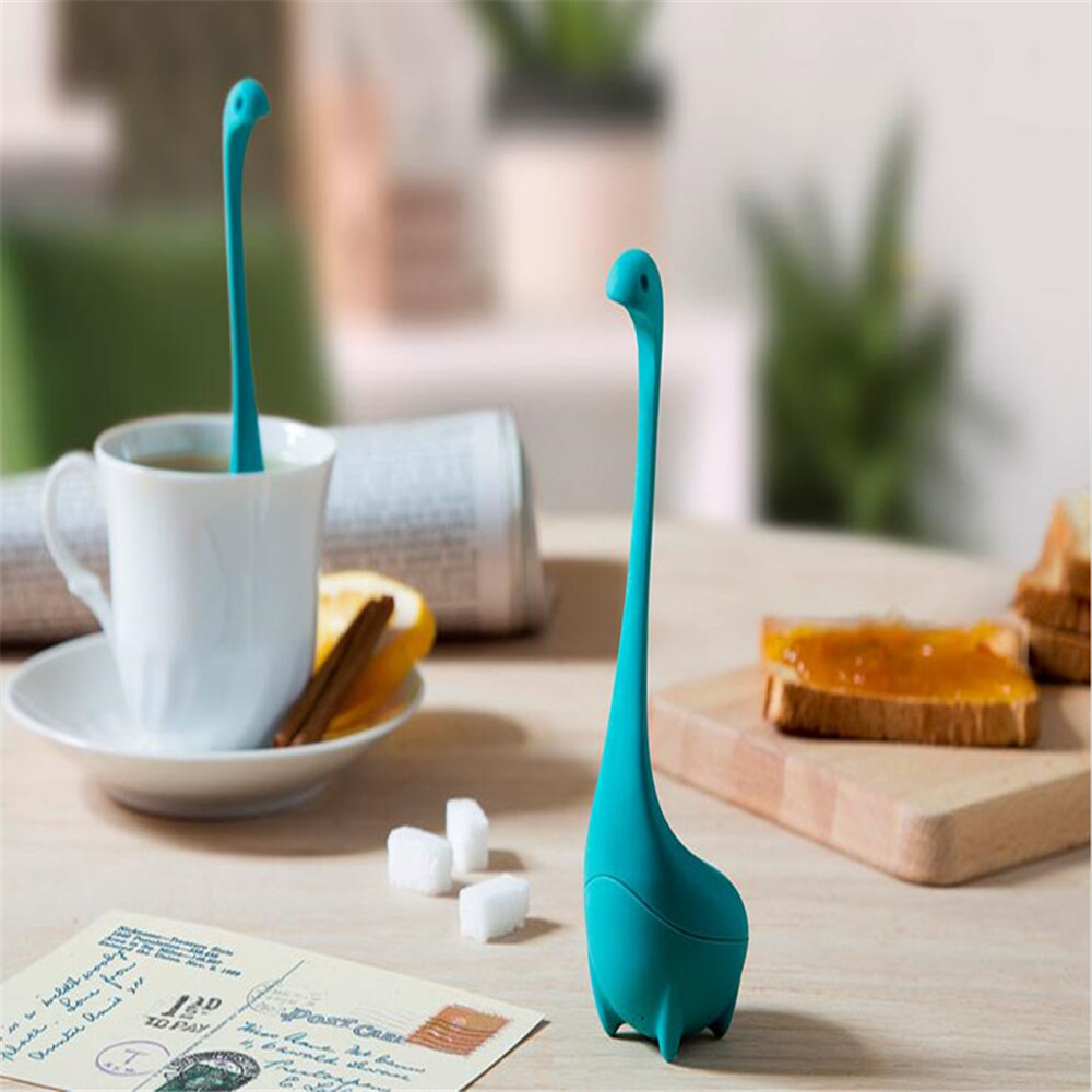 3 PCS Loch Ness Monster Infuser Mug Cup Silicone Tea Strainer Filter- Multi