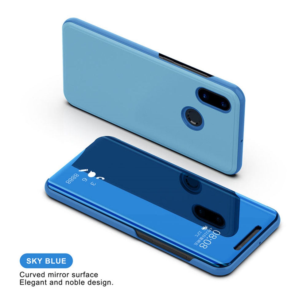 Cover Case For Xiaomi Mi 8 Smart Sleep Wake Up Flip Stand Holder Baseus Sky Oneplus One Clear View