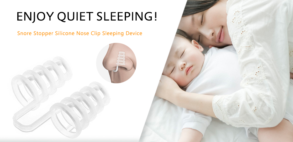 Snoring Cure Anti-snore Apparatus Nose Clip- White