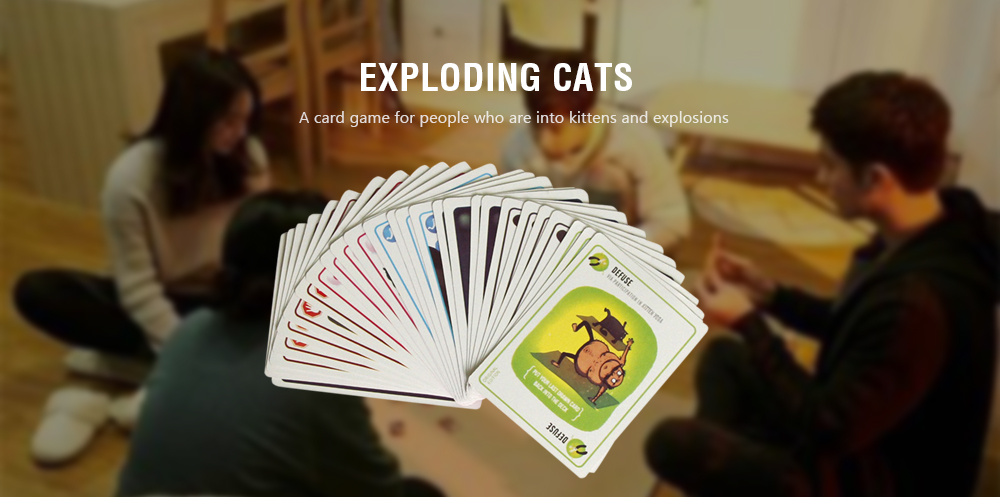 Exploding Cats Card Game Goats Laser Beams Family Friends Birthday Party Toy- Red