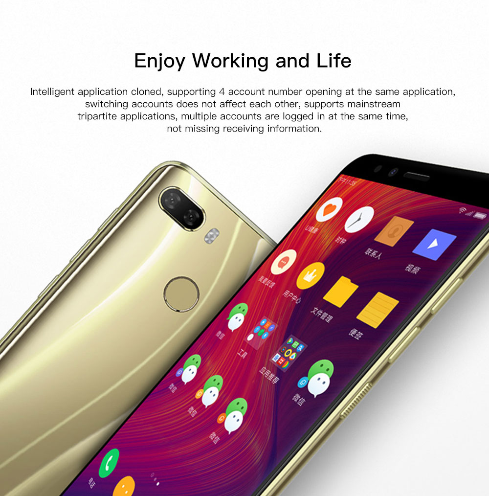 Lenovo K5 Play 4G Phablet 5.7 inch Android O Qualcomm Snapdragon 430 ( MSM8937 ) 1.4GHz Octa Core 3GB RAM 32GB ROM 13.0MP + 2.0MP Rear Camera Fingerprint Sensor 3000mAh Built-in- Black