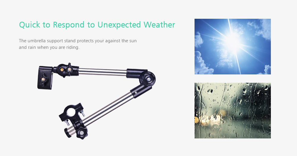 Universal Flexible Umbrella Support Stand Connector Holder for Bike Motor Riders - Dodger Blue