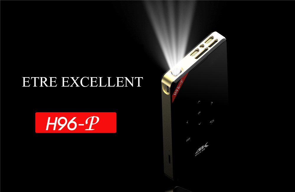 H96 - P DLP MiNi Projecteur- Black US Plug + 1GB RAM + 8GB ROM