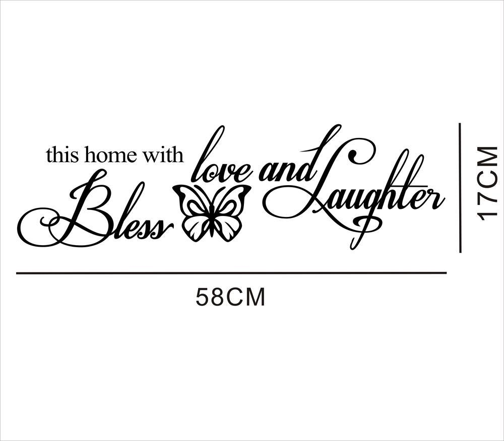 BLESS New Butterfly Rumors Removable Wall Sticker- Black