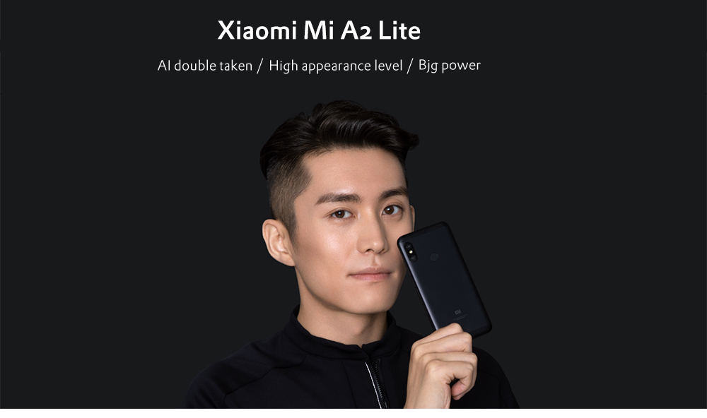 Xiaomi Mi A2 Lite 4G Phablet 5.84 inch Android 8.1 Snapdragon 625 Octa Core 2.0GHz 3GB RAM 32GB ROM 12.0MP + 5.0MP Dual Rear Cameras Fingerprint Sensor 4000mAh Built-in- Black 3GB RAM + 32GB ROM