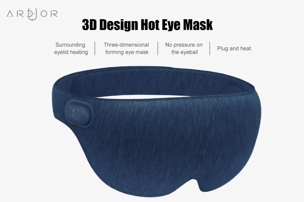 ARDOUR AD - ES011806 3D Design Hot Eye Mask for Home Office Travel from Xiaomi Youpin- Light Gray