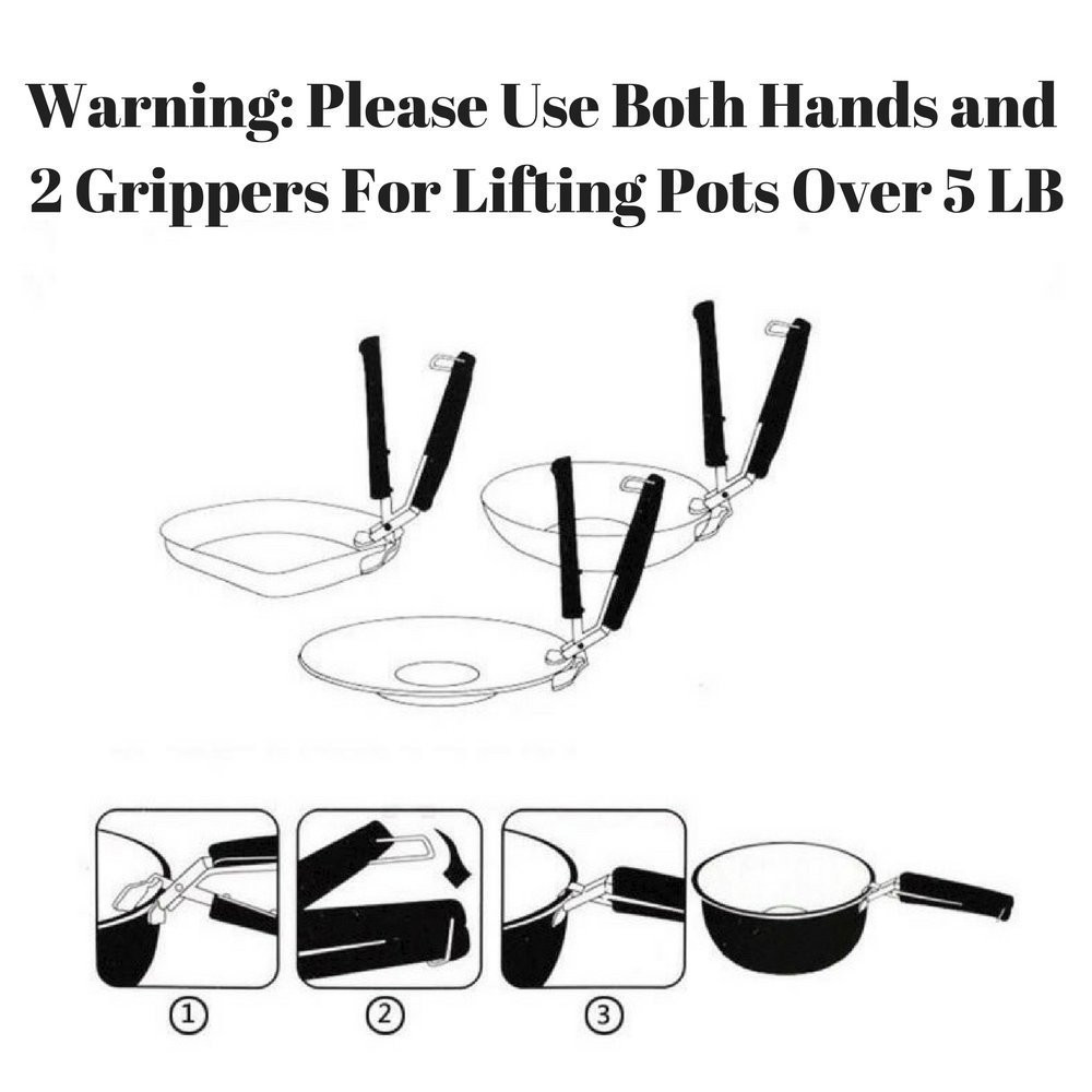 Gripper Clip for Moving Hot Plate or Bowls with Food Out- Black