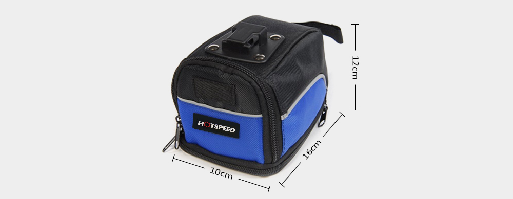 Hotspeed Bicycle Tail Pack Mountain Bike Saddle Bag for Riding- Cobalt Blue