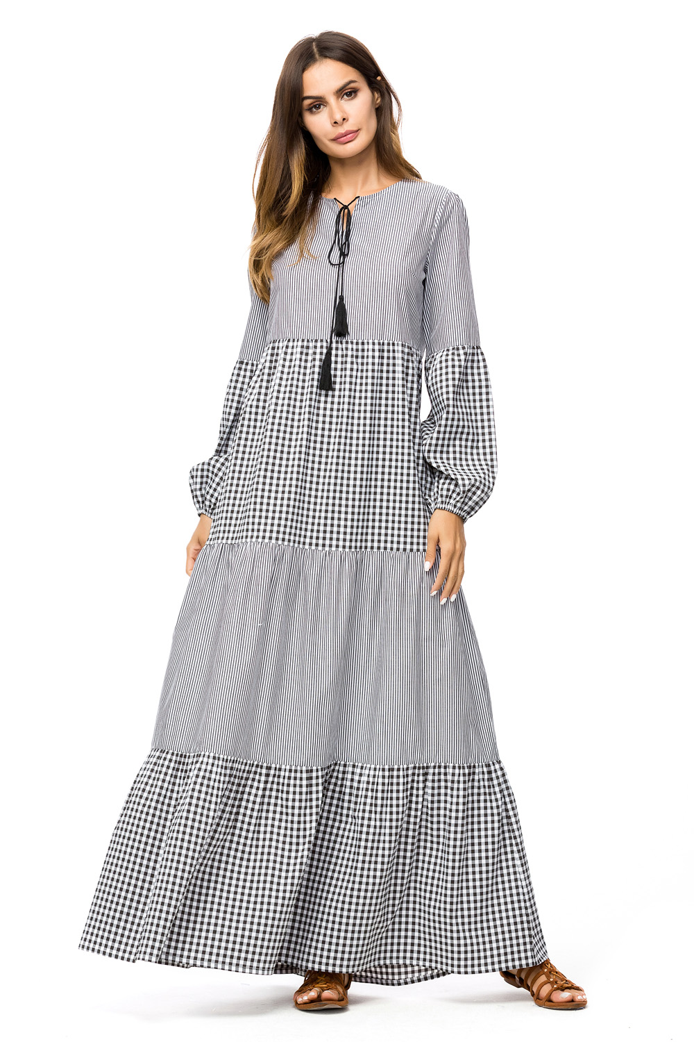 Sleeve Length  Long Sleeves Embellishment  Pleated Pattern Type  Striped  Elasticity  Elastic With Belt  No Season  Spring aa8fb067cd1f