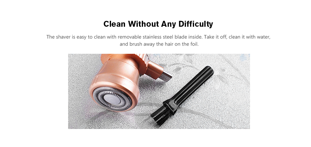 Portable Micro USB Electric Shaver for Mobile Devices- Bronze