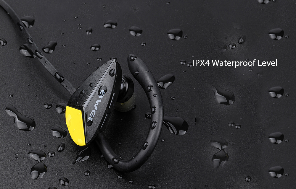 Awei A888BL Wireless In-ear Sweatproof Earphone IPX4 Waterproof Bluetooth Stereo Sports Earbuds- Black