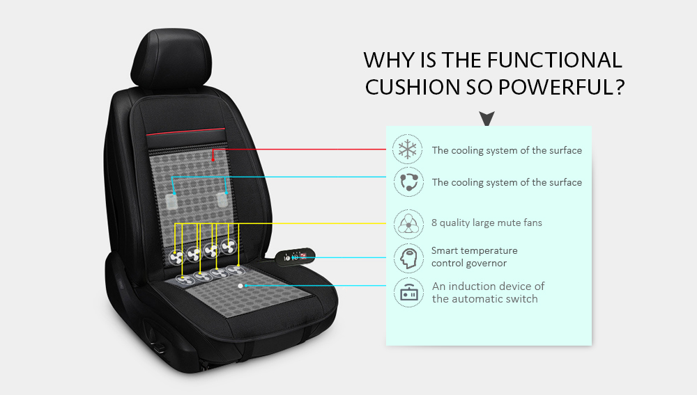 Massage Cooling Car Seat Cushion For Summer