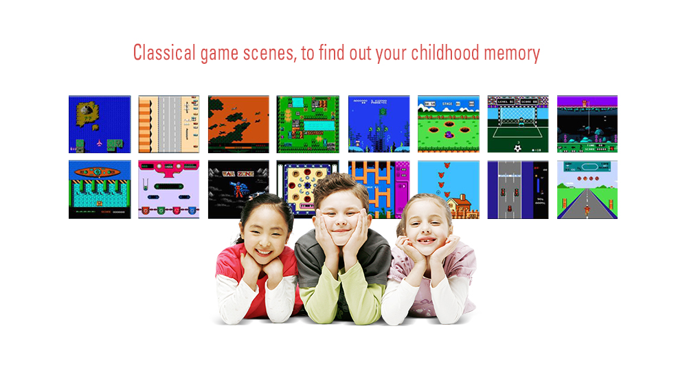 BL - 883 Portable Retro Handheld Recreational Console Built-in 240 Classic Games for Kids- Black