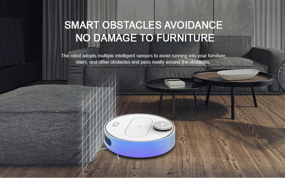 360 S6 Robotic Vacuum Cleaner Automatic Remote Control Cleaning Robot- Black