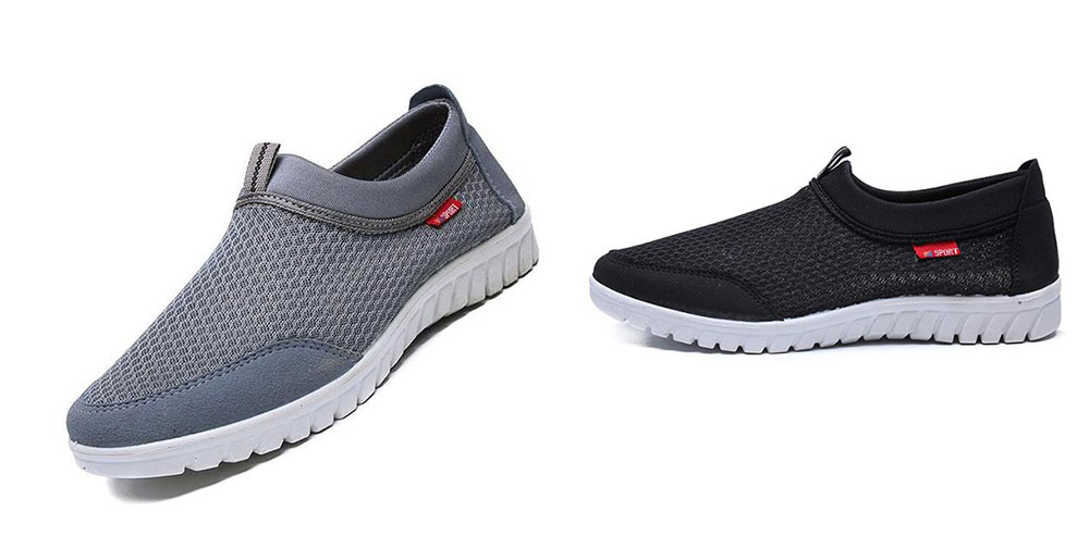 Elwow Mens Breathable Mesh Slip On Trainers Shoes Walking Loafer Sneakers