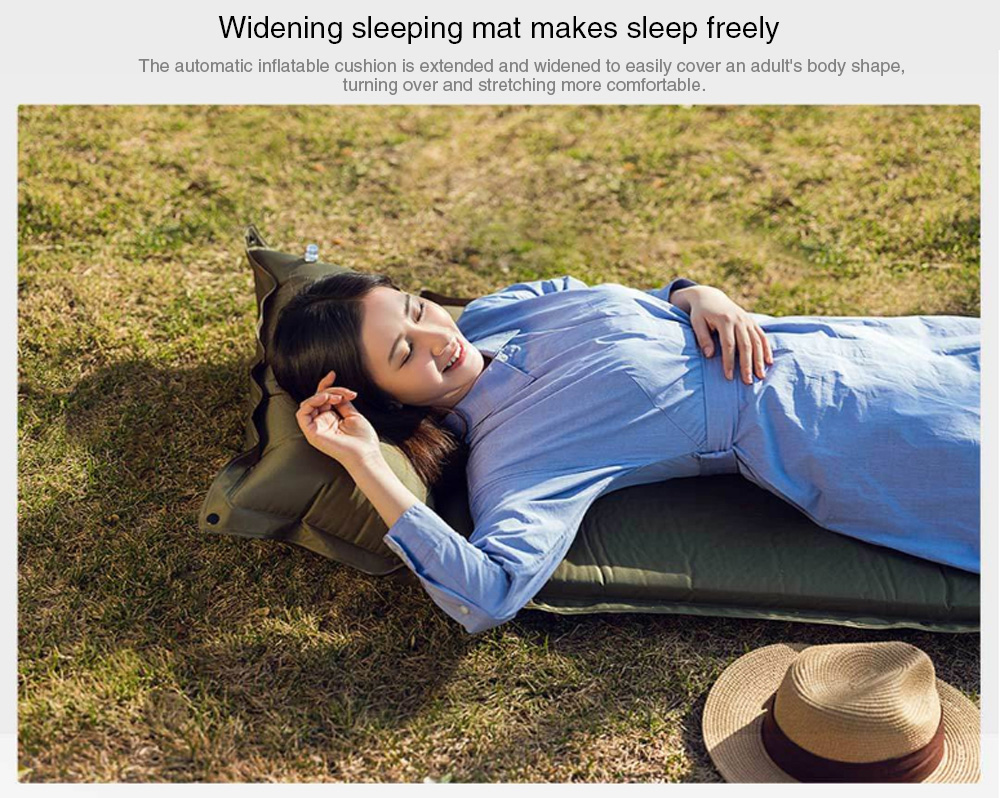 Zaofeng 1 Person Outdoor Automatic Inflatable Sleeping Cushion from Xiaomi Youpin - Army Green