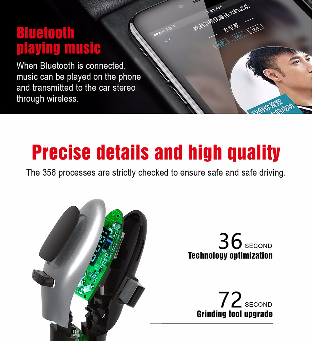 G96 Bluetooth Car MP3 Player Dual USB Charger FM Transmitter