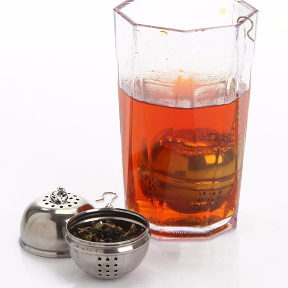 Stainless Steel Ball Tea Infuser Mesh Filter Strainer Loose Leaf Spice Kitchen- Silver