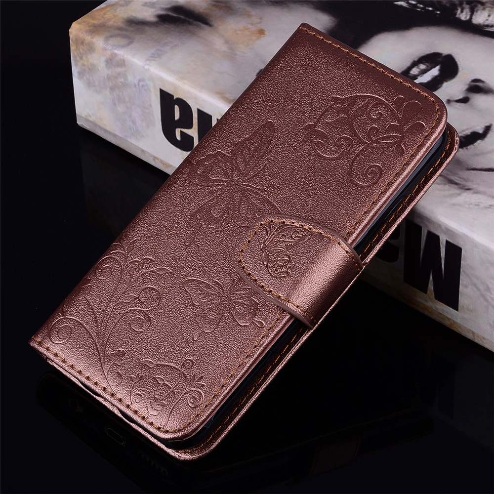 Mirror Case for Samsung Galaxy J5 2017 /J530 Phone Butterfly Glossy Wallet Leath- Hot