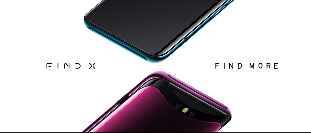 OPPO Find X 4G Phablet 6.42 inch Android 8.1 Snapdragon 845 Octa Core 2.8GHz 8GB RAM + 256GB ROM 25.0MP Front Camera Face ID 3730mAh Built-in- Pink Lemonade