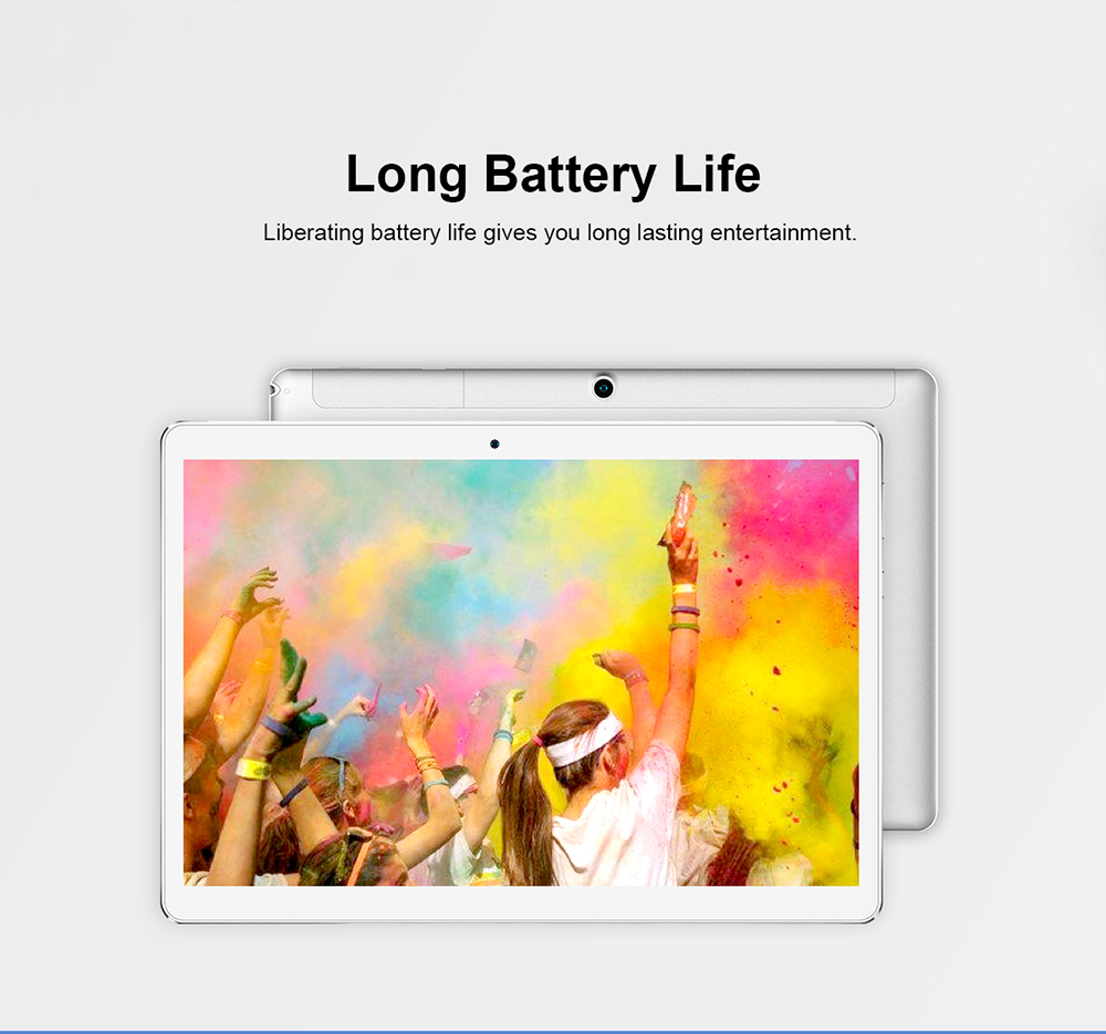 Teclast A10H Tablet PC 10.1 inch Android 7.0 MTK8163 Quad Core 1.3GHz 2GB RAM 16GB ROM 2.0MP + 0.3MP Double Cameras Dual WiFi - Platinum