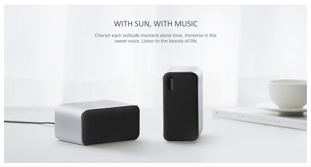 Xiaomi Bluetooth Computer Speaker 2PCS- Silver