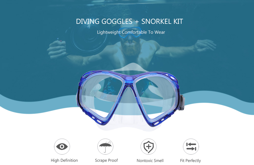 Diving Goggles Snorkel Kit for Swimming Snorkeling