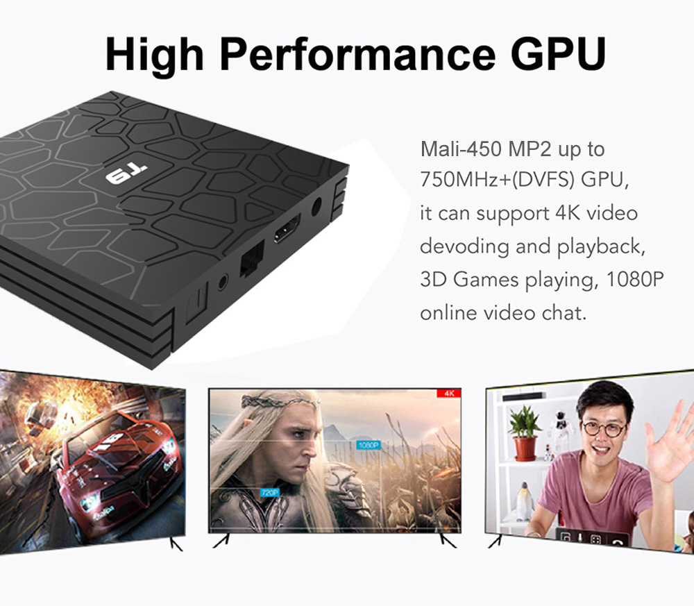 T9 TV Box Support 4K H 265